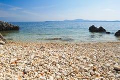 Greek Beach. Beaches from Corfù, Kerkira, Greek island Royalty Free Stock Photography