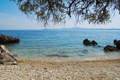 Greek Beach. Beaches from Corfù, Kerkira, Greek island Stock Photos