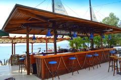 Greek beach bar stock photos