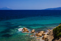 Greek beach Royalty Free Stock Photo