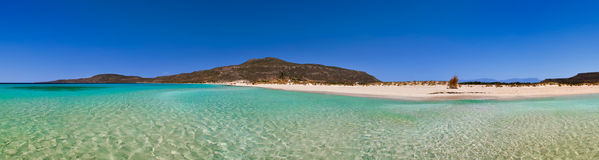 Greek beach panorama Stock Images