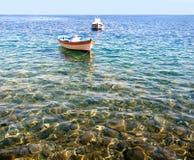 Greek beach Thirasia island Royalty Free Stock Image