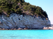 Greek Beauty, Anti-Paxos, Greece. Rock formations at Voutoumi, Anti-Paxos, Greece Stock Photo