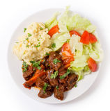 Greek beef in red sauce Royalty Free Stock Photography