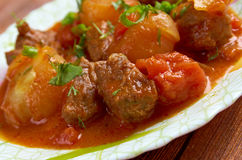 Greek  beef stifado Royalty Free Stock Photos