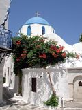 Greek blue and white church Royalty Free Stock Images