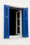 Greek blue window royalty free stock images