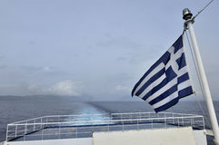 Greek boat Stock Photo