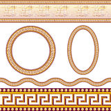 Greek border patterns Stock Photos
