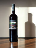 Greek Bottle Of The Red Wine From Corfu Stock Photo