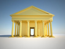 Greek building Royalty Free Stock Image