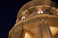 Greek building nightscene Stock Image