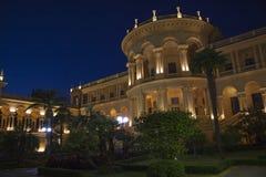 Greek building nightscene Stock Images