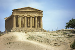 Greek building in Sicily Royalty Free Stock Photos
