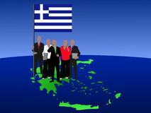 Greek business team Stock Images