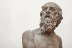 Old Male Greek Statue Royalty Free Stock Images