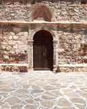Greek byzantine church door Stock Photo