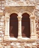 Greek byzantine church window Stock Photography