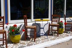 Greek cafe terrace. Stock Image