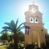 Greek capel in Corfu iasland Stock Photos