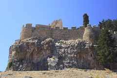 Greek castle Royalty Free Stock Images