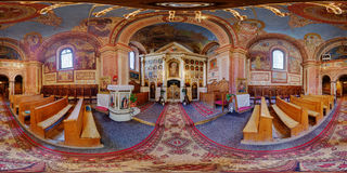 Greek-Catholic Bob Church Interior in Cluj-Napoca, Romania Stock Photos