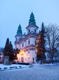 Greek Catholic Cathedral in Ternopil. Old Greek Catholic Cathedral in Ternopil, Ukraine Royalty Free Stock Images