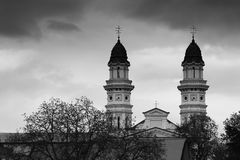 Greek Catholic Cathedral, Uzhgorod, Ukraine Stock Photography