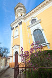 Greek Catholic Cathedral  in Uzhhorod City. Stock Photos