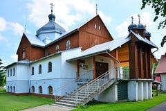 Greek Catholic church. In Komancza, Bieszczady, Poland Stock Photos