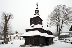 Greek Catholic wooden church in Rusky Potok, Slovakia Royalty Free Stock Photos