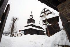 The Greek Catholic wooden church in Rusky Potok, Slovakia Royalty Free Stock Photography
