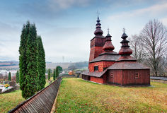 The Greek Catholic wooden church of St Paraskieva in Potoky, Slo Royalty Free Stock Image