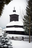 The Greek Catholic wooden church in Ulicske Krive, Slovakia Royalty Free Stock Image