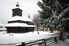 The Greek Catholic wooden church in Ulicske Krive, Slovakia Stock Photography