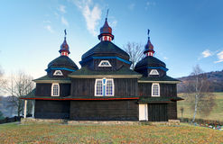 Greek Catholic wooden church, UNESCO, Slovakia, Nizny Komarnik Stock Photo