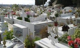 Greek cemetery. Heraklion. Crete. Greece Stock Photography