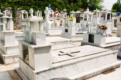 Greek cemetery Royalty Free Stock Photography
