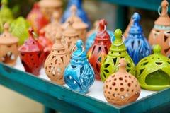 Greek ceramic lanterns Royalty Free Stock Photo