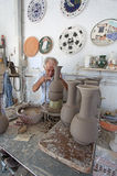 Greek ceramics workshop. Rhodes island Stock Images