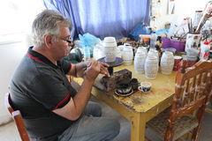 Greek ceramics workshop. Rhodes island Royalty Free Stock Image
