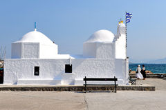 Greek chapel Stock Photography