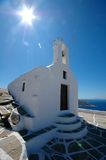 Greek Chapel. Small church on the Greek island Ios Stock Images