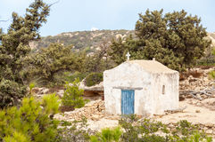 Greek chapel on Gavdos Royalty Free Stock Image