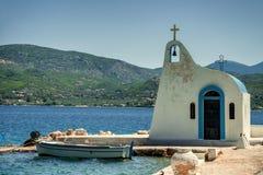 Free Greek Chapel In Ypanema At Heraion Lake Royalty Free Stock Photos - 162777408