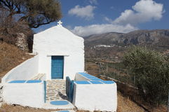 Greek chapel Stock Image