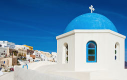 Greek chapel in Santorini Royalty Free Stock Photo