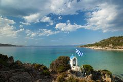 Greek chapel Royalty Free Stock Images