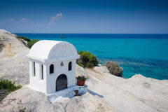 Greek chapel Royalty Free Stock Photos