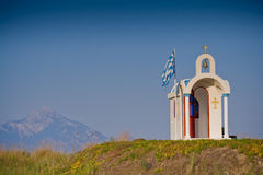 Greek chapel Royalty Free Stock Image